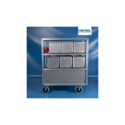 Rollwagen Atemschutz-Geräte (9) in Alukisten